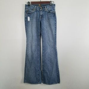 7 For All Mankind light wash flare jeans 26